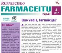 Rūpniecisko farmaceitu sekcijas ziņu biļetens Nr. 4-2017